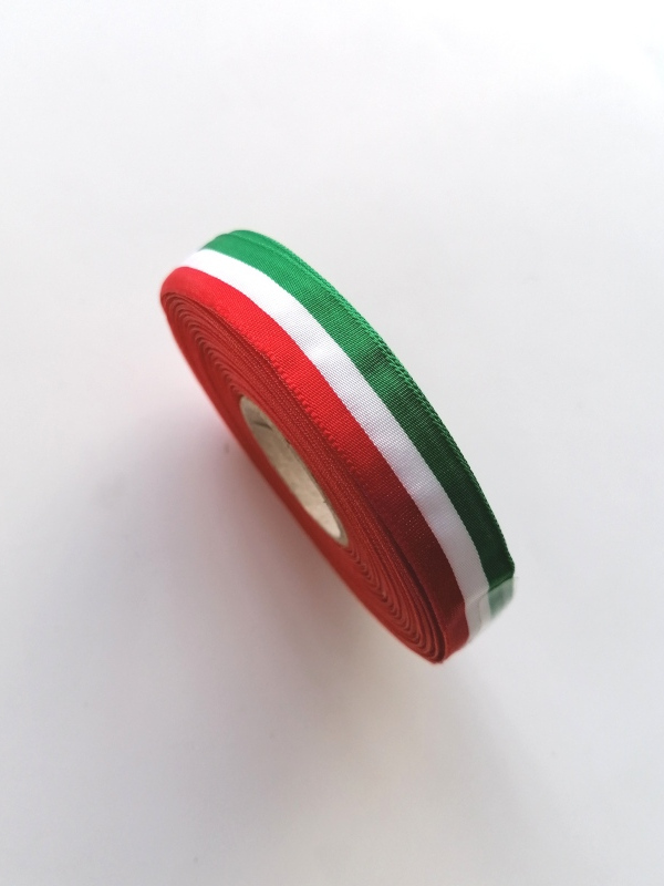Art.63609 Nastro taffeta' tricolore mm.40